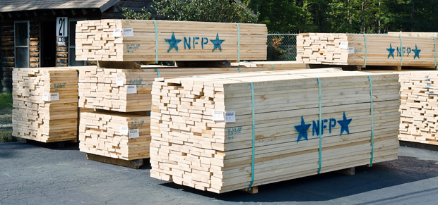 Kiln-dried hardwood lumber